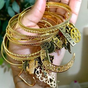 Gold Custom Bangle Set